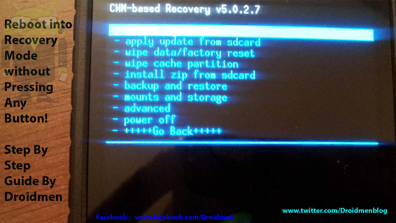 How to Reboot into Recovery Mode without Pressing Button! 1