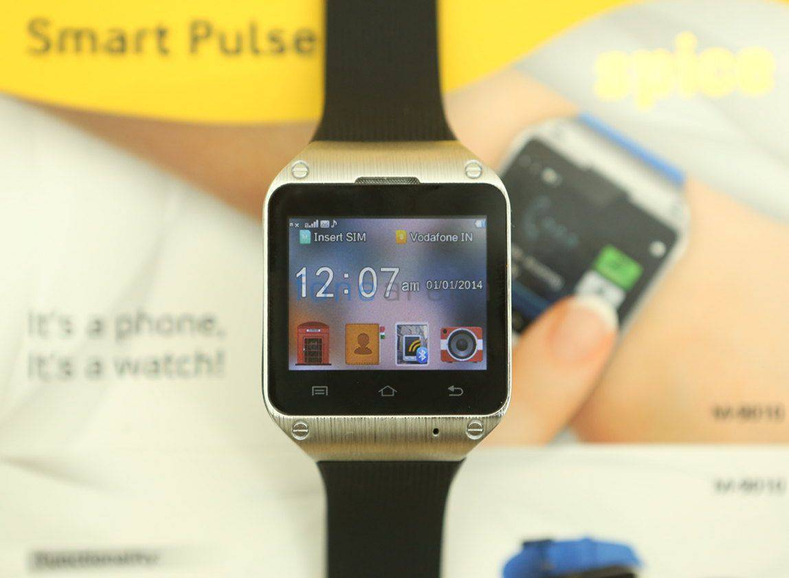 Spice Smart Pulse M-9010 Smartwatch Specifications 1
