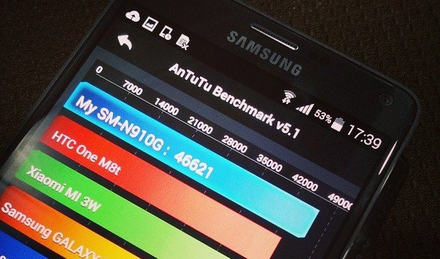 Samsung Galaxy Note 4 Antutu Benchmark Score : 46621 1