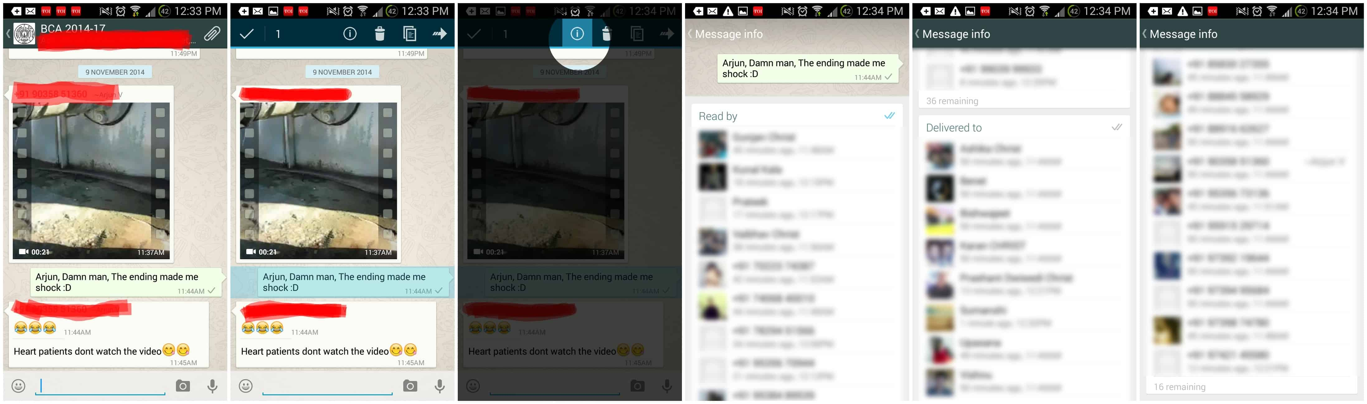 Latest WhatsApp Update Enables to Know People Who Have Received the Message in WhatsApp Groups 1