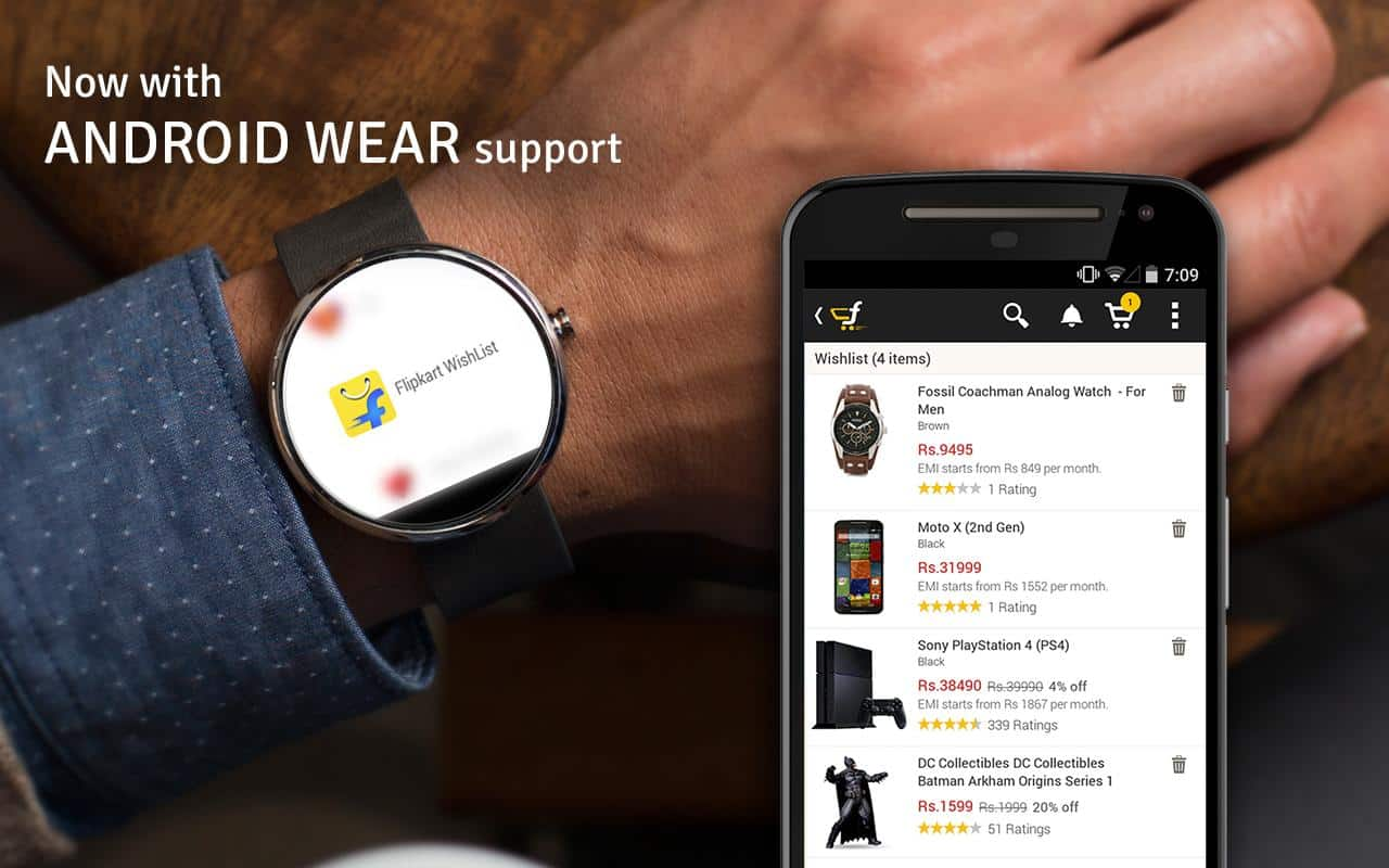 Flipkart App for Android Wear Launched 1