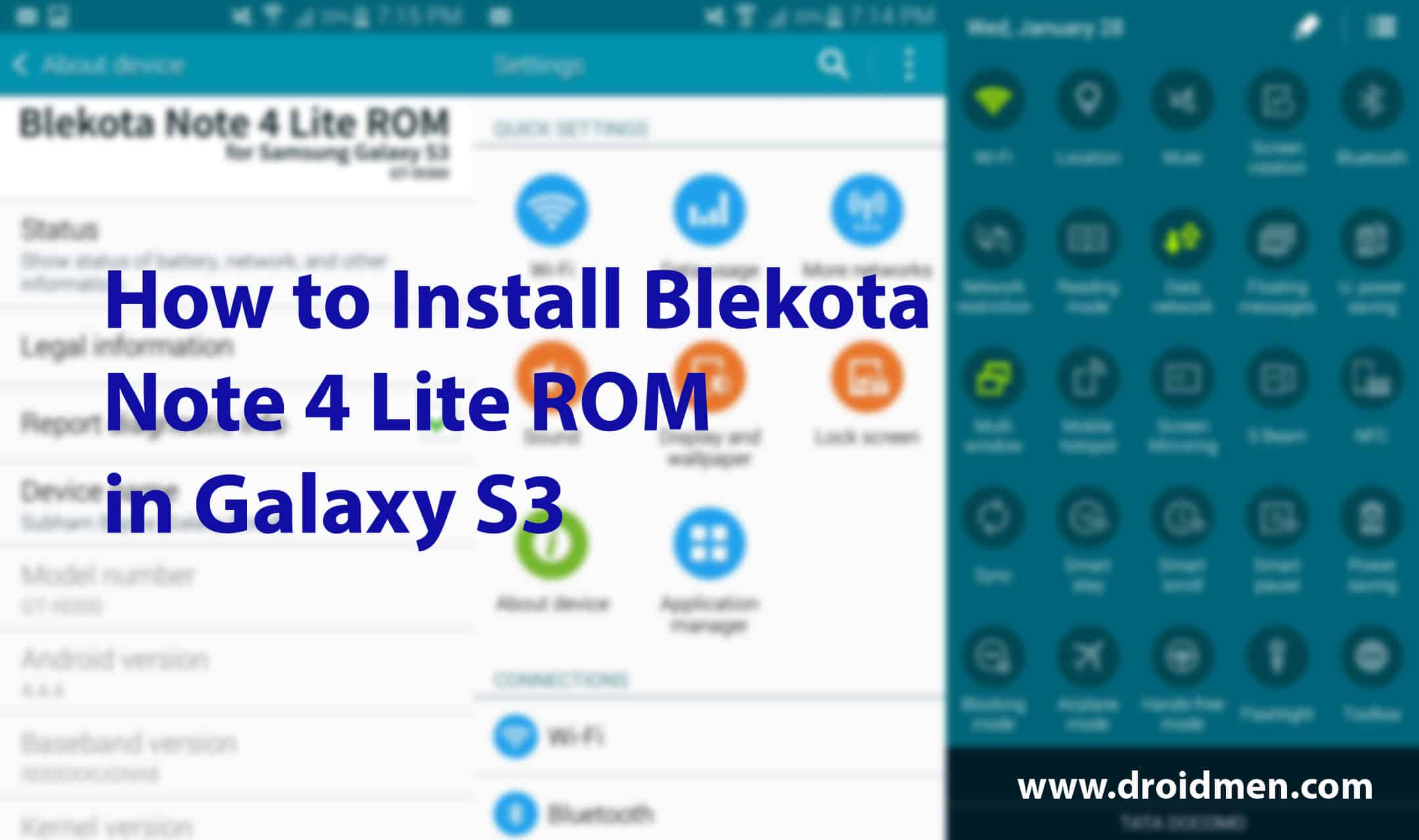 Blekota Note 4 Version 4.4+ ROM Brings Galaxy S6's Lollipop Based UI to Galaxy S3. 1