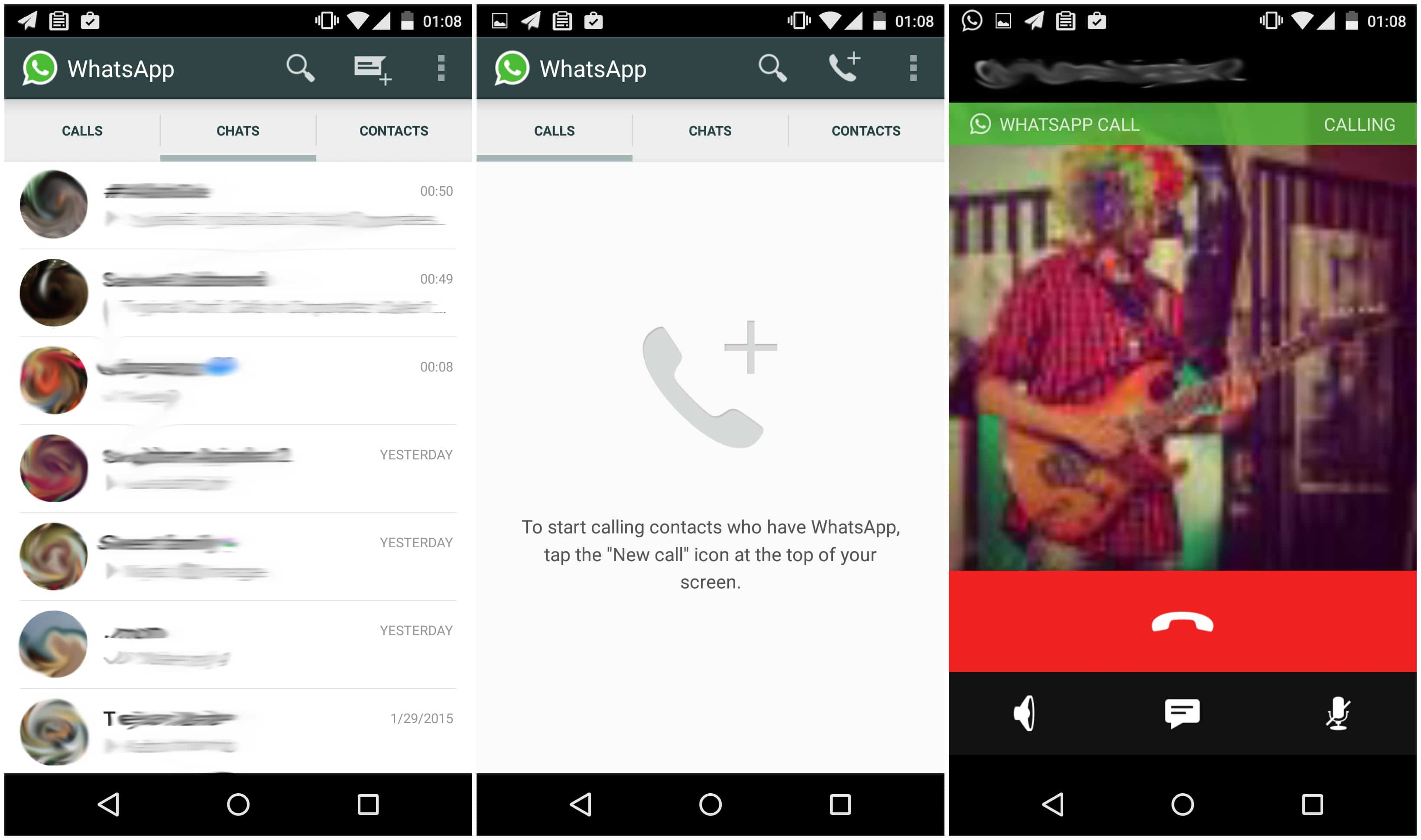 WhatsApp Starts Rolling out Calling Feature 1
