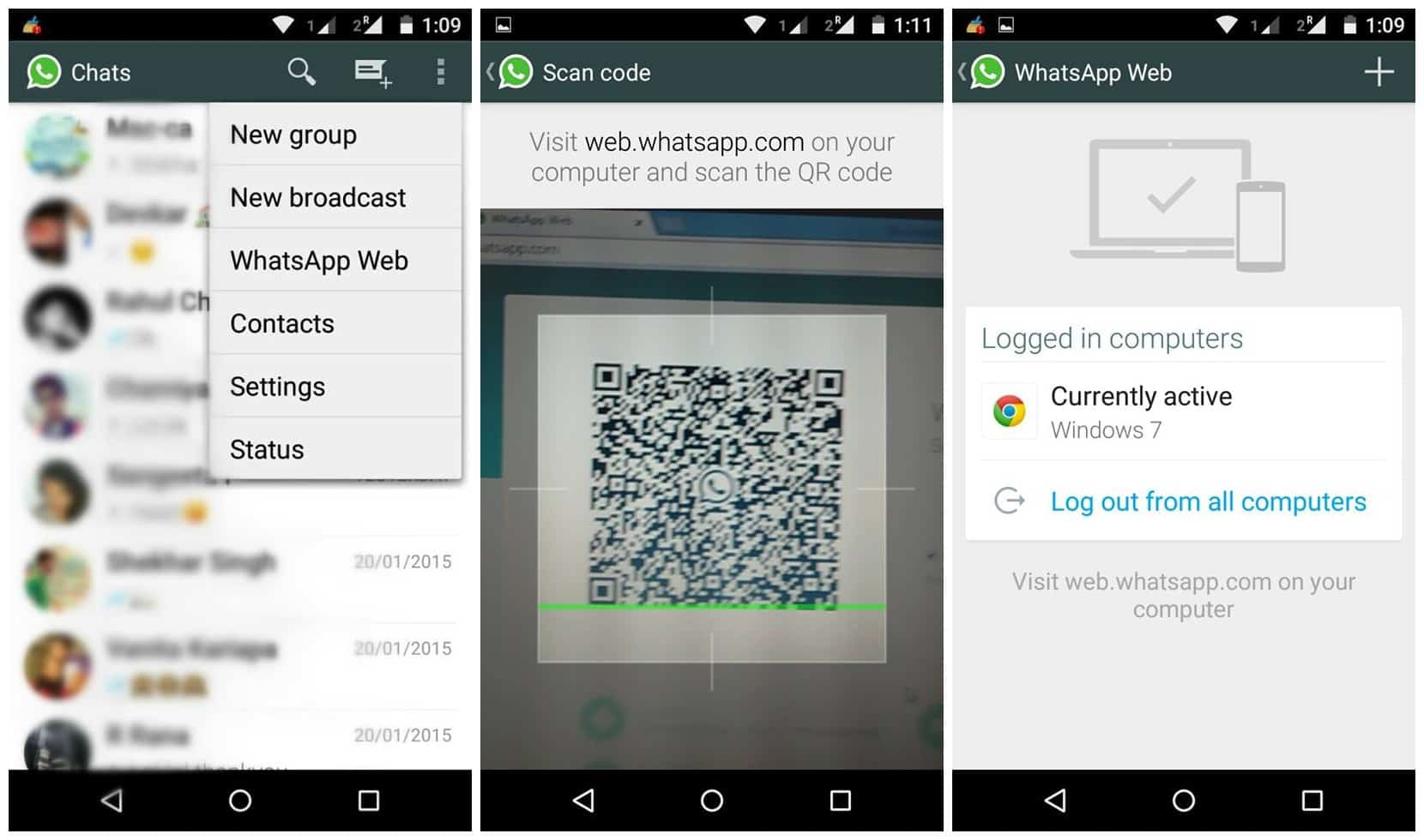 Phone Whatsapp On Android Phone whatsapp arrives for web how to use on chrome access your account browser you need already have a which is being used android windows phone nok