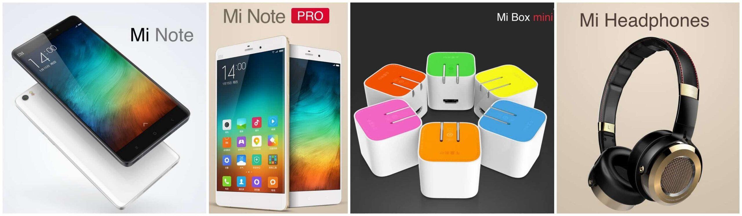 Xiaomi Introduces Mi Note, Mi Note Pro, Mi Box Mini and Mi Headphones 1