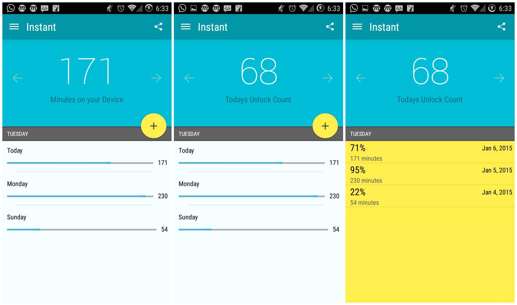 Instant - Android App Tracks Time Spent on Android Phone 1