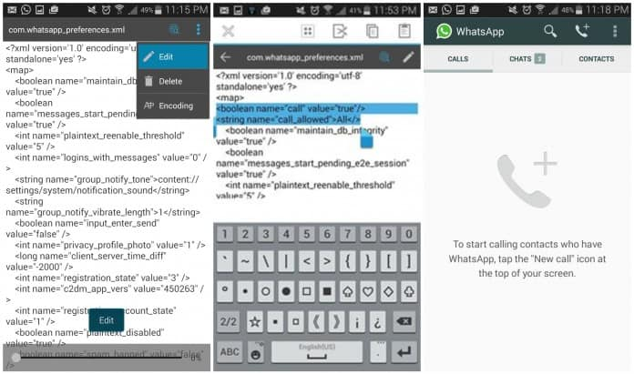 How to Enable WhatsApp Calling without Invite?