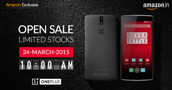 OnePlus Announces : OnePlus One Open Sale in India on 24th March. 1