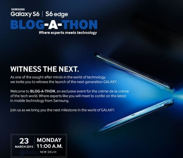 Samsung Galaxy S6 and Galaxy S6 Edge India Launch Date : March 26th, A Bit Earlier than thought! 1