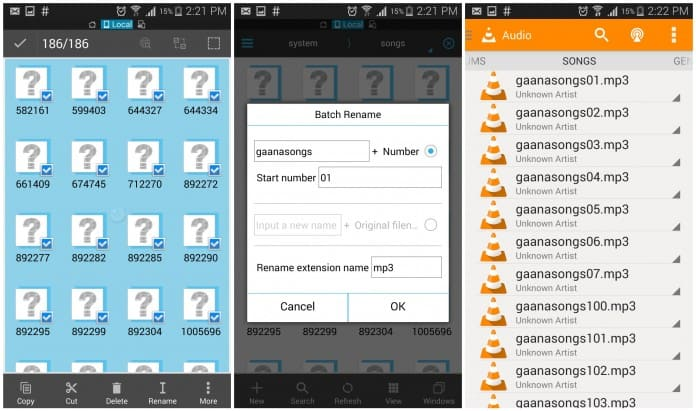 Play Songs Downloaded by Gaana App in another Music Players