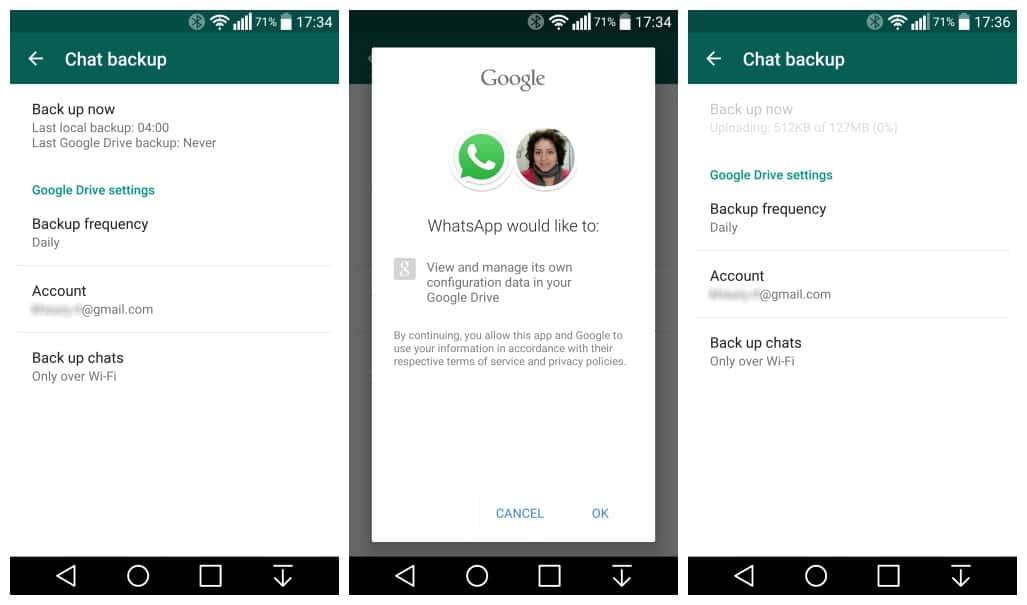 Latest WhatsApp 2.12.45 Allows To Backup WhatsApp Chats on Google Drive. 1