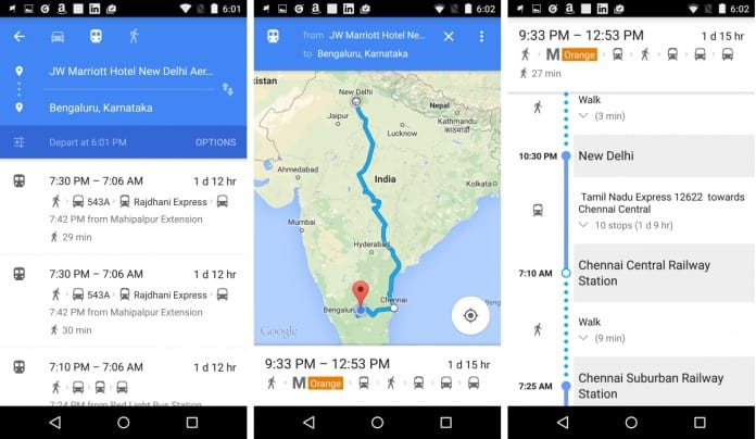 Indian Railway Schedules Added to Google Maps for Public ... on