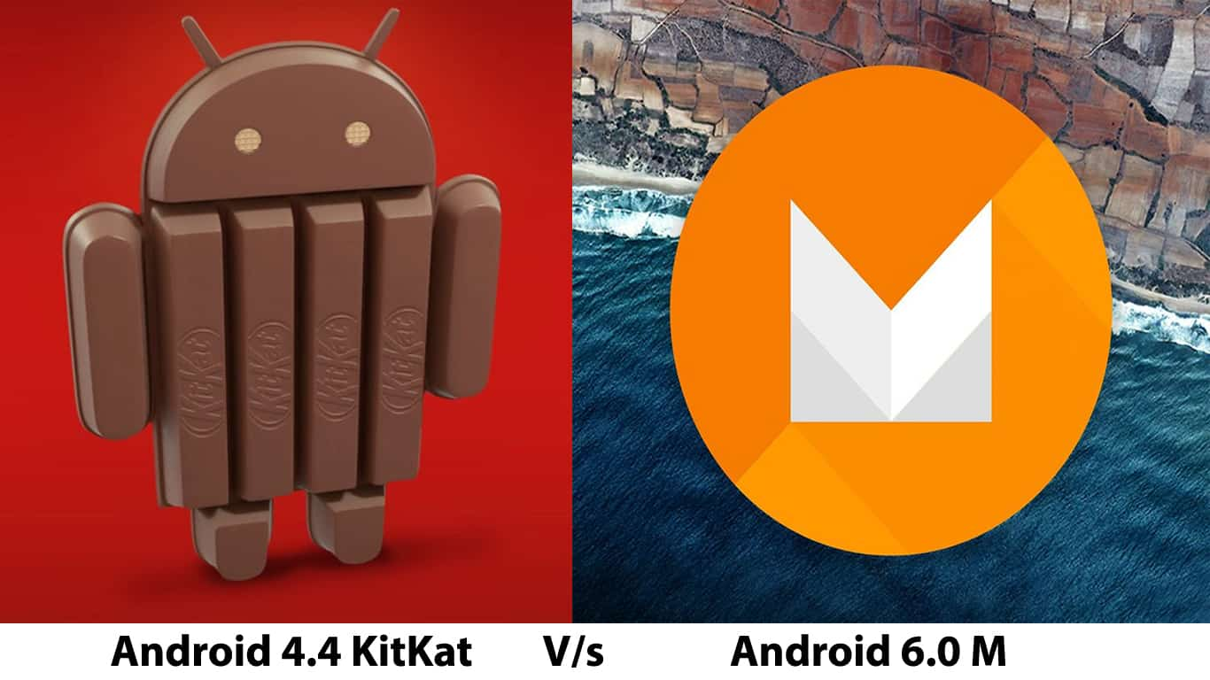 Android KitKat V/s Android M: Design, Battery, RAM Management & Features Comparison. 1
