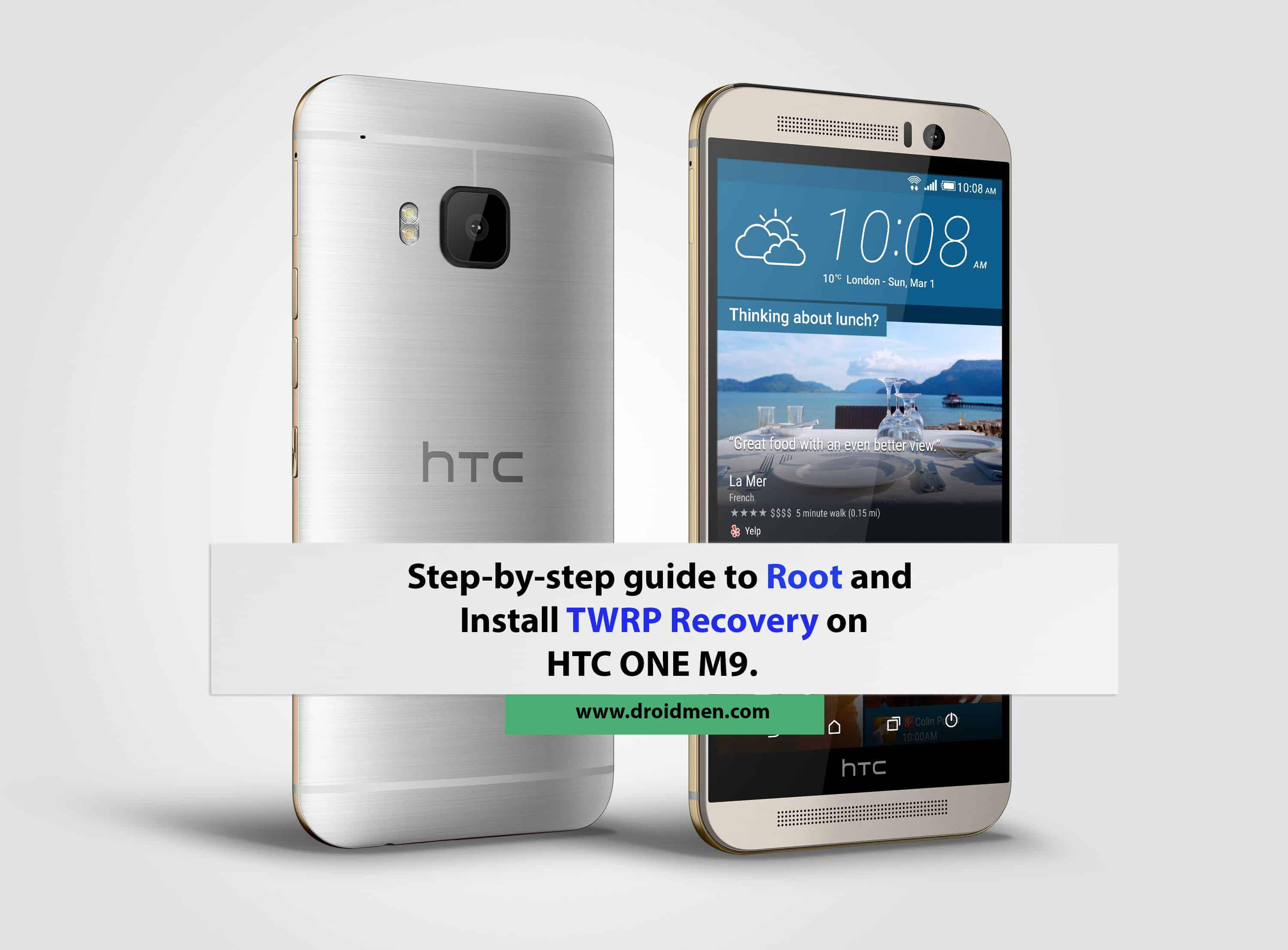 How to Root and Install TWRP recovery on HTC One M9 1