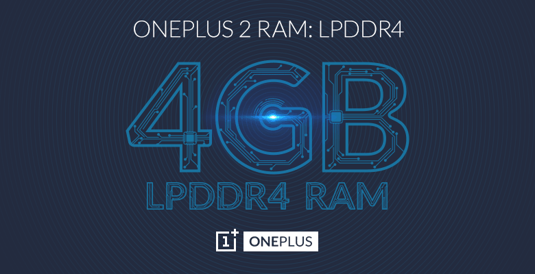 OnePlus Two Features a 4GB LPDDR4 RAM. 1