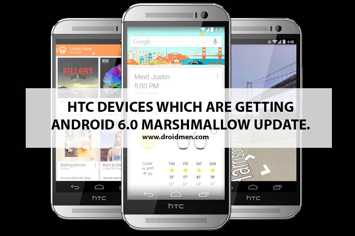 List of HTC Devices getting Android 6.0 Marshmallow Update