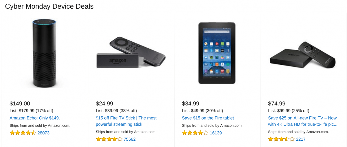 best cyber monday deals amazon