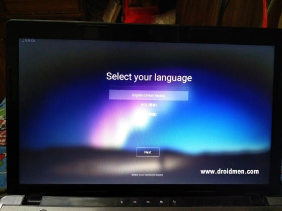 Remix OS 2.0 Languages - English, Chinese