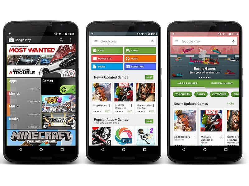 Google Play Store 8 New Categories
