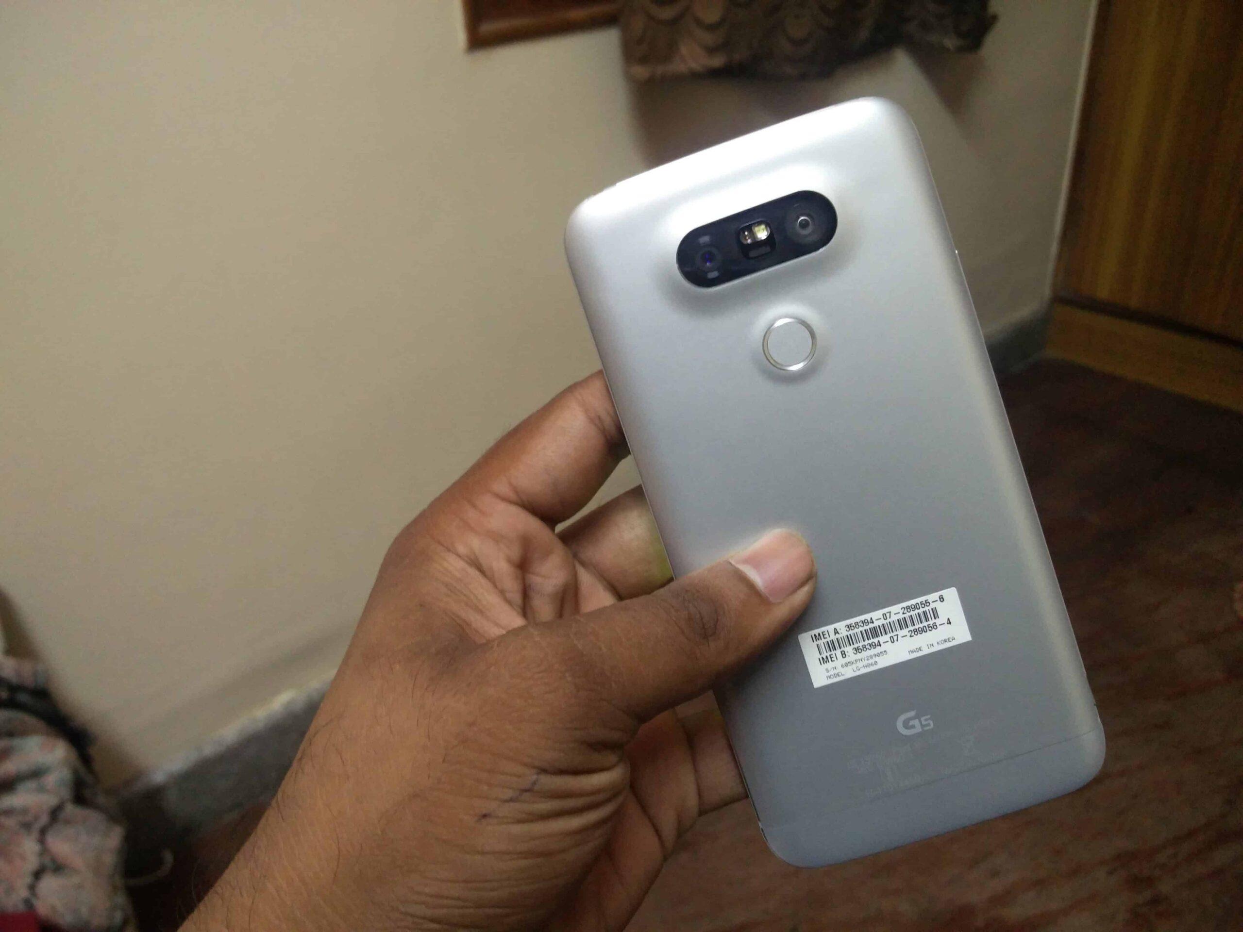 LG G5 Backside Appearance