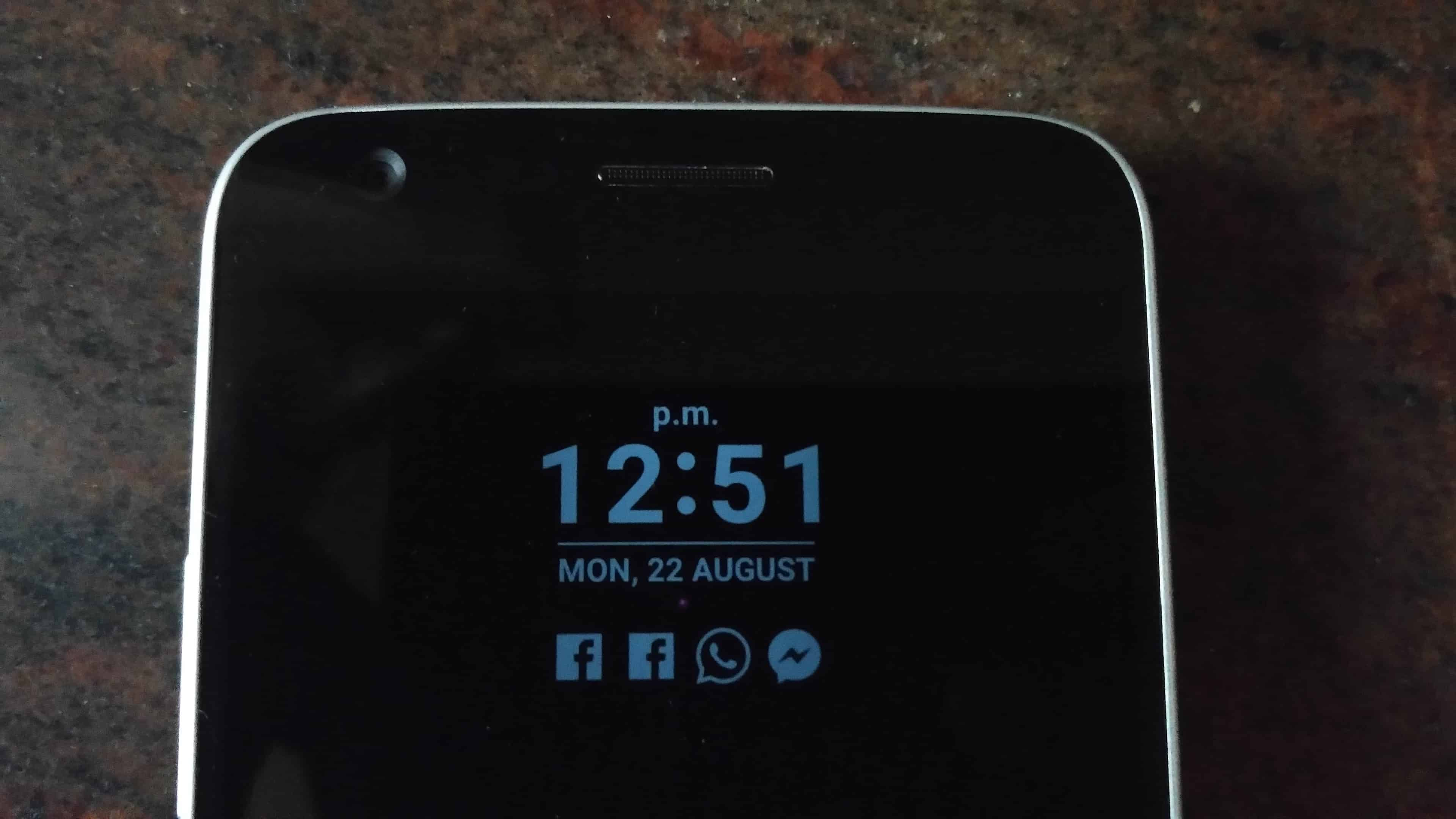 Closer Look to the Front Side of LG G5