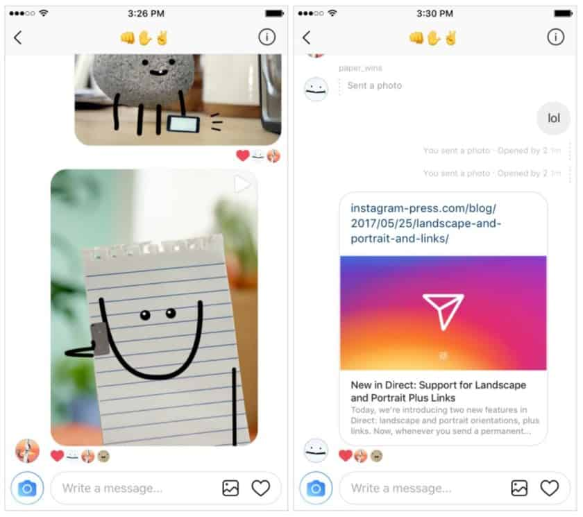Instagram gets new Direct features