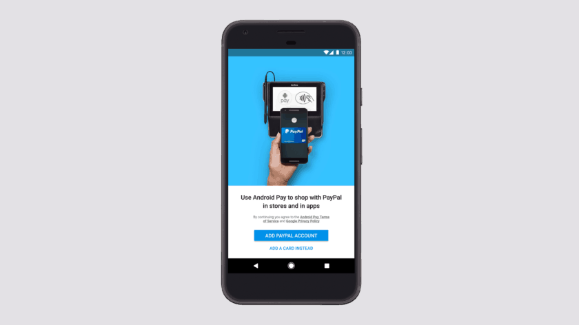 Android Pay now lets you pay with a PayPal account